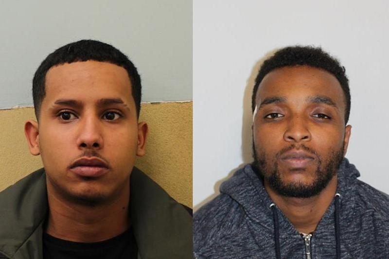 Adam Adeniran, left, and Nadir Munasar, right, are wanted in connection with the murder of 28-year-old Ionut Lazar who was fatally shot only two days after he arrived in the UK from Romania: Metropolitan Police