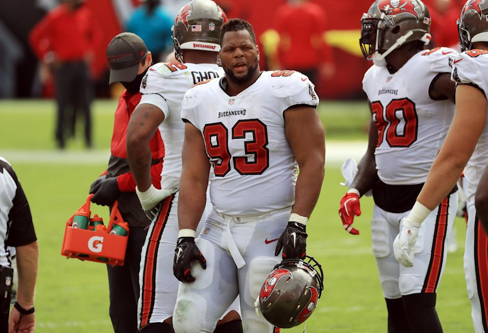 Ndamukong Suh #93 of the Tampa Bay Buccaneers