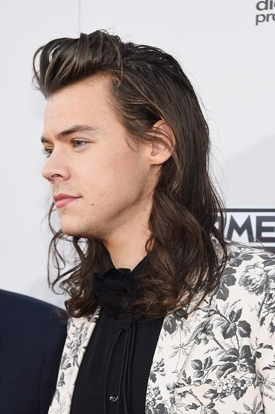 <p>The One Direction singer must have skipped a shampoo and gone right to the red carpet. <i>(Photo: Getty Images)</i></p>