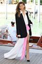 <p>Zendaya does it again in this relaxed Valentino look, elevated with a flash of pink detailing.</p>