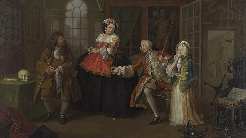 Marriage A-la-Mode: The Inspection is the third in a series of six satirical works by Hogarth