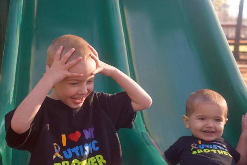 """""""Both boys have been diagnosed with autism. Dominic is 4.5 and was diagnosed at 2, Ryder is 20 months andwas diagnosed at 17 months. I, their mother, am also on the spectrum, andI have a variety of other mental health problems."""""""