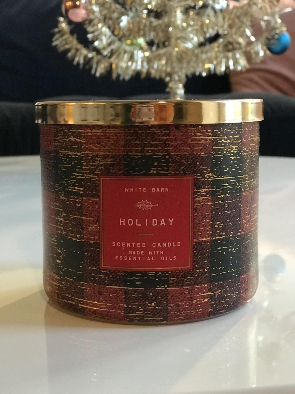 <p><span>Holiday 3-Wick Candle</span> ($15, originally $25)</p> <p><strong>What It Smells Like:</strong> A cinnamon stick explosion.</p>