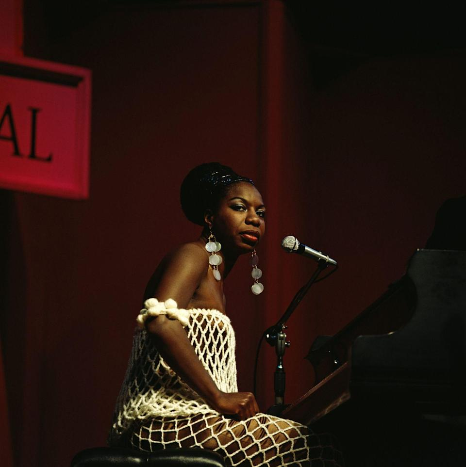 <p>We all know Nina Simone for her standout voice, but she was also the woman to look to for '60s fashion inspiration. She was originally projected to be a concert pianist but took a risk and became a jazz singer instead. She's recorded more than 40 albums and made an unforgettable mark in music history. Her style is one to watch if you are looking to add a retro-glam feeling to your looks.</p>