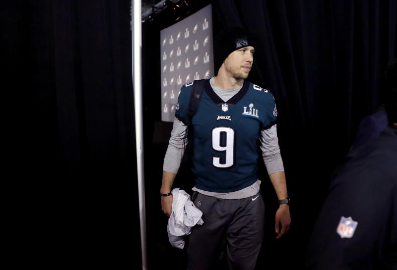 Philadelphia Eagles quarterback Nick Foles will start Sunday's Super Bowl LII