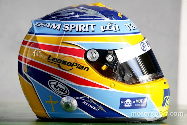 "Casco de Fernando Alonso en 2006 <span class=""copyright"">LAT Images</span>"