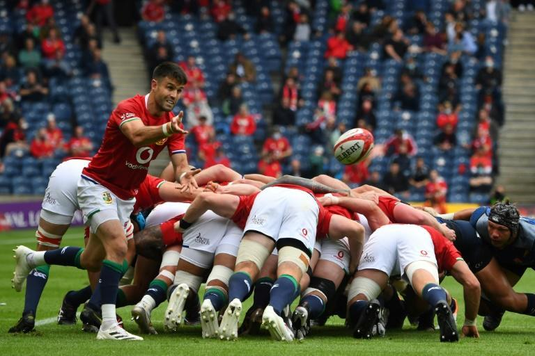 New British and Irish captain - Ireland scrum-half Conor Murray in action during the combined side's 28-10 warm-up win over Japan at Murrayfield on Saturday