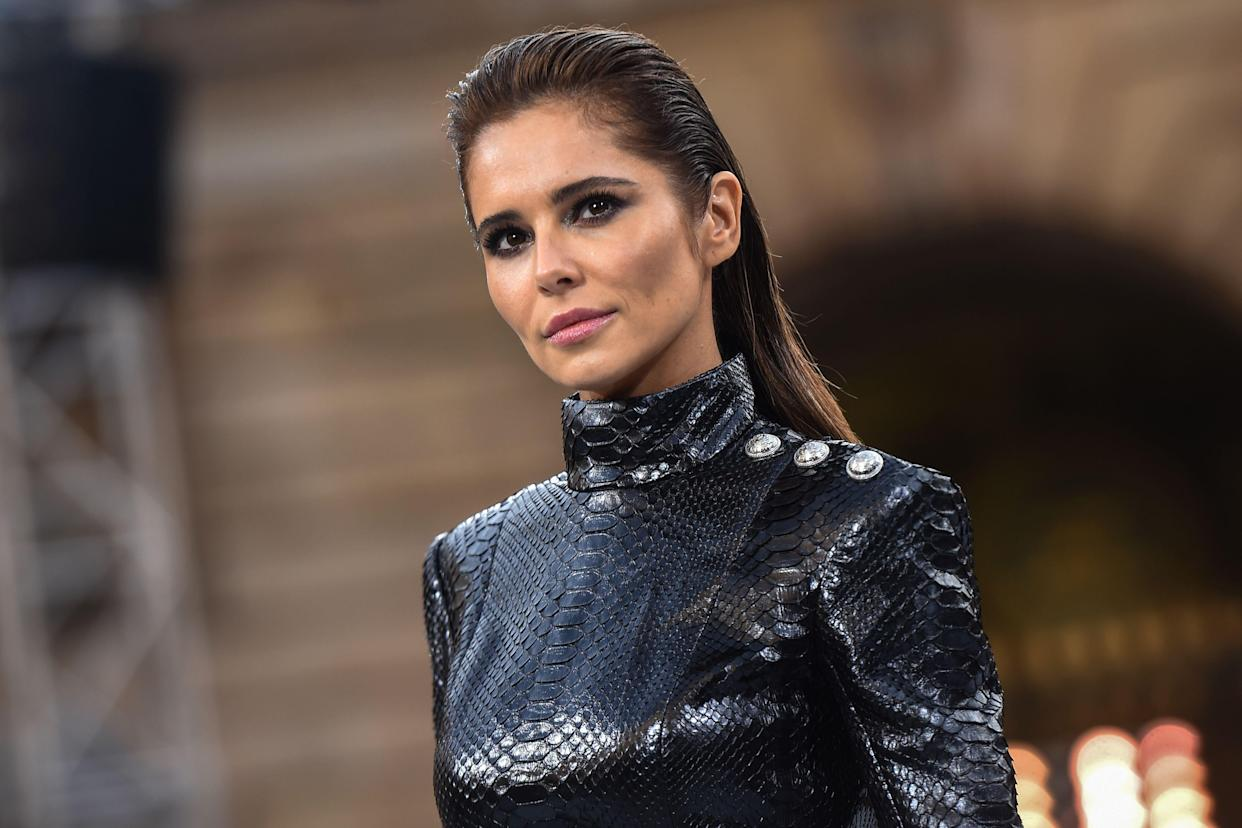 British singer Cheryl, formely known as Cheryl Cole, presents a creation for L'Oreal during the Women's Spring-Summer 2020 Ready-to-Wear collection fashion show at the Monnaie de Paris, in Paris on September 28, 2019. (Photo by Lucas BARIOULET / AFP) (Photo by LUCAS BARIOULET/AFP via Getty Images)