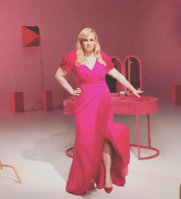 Rebel Wilson in pink ball gown