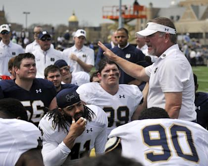Kelly is one of just five coaches who have lasted more than five seasons at Notre Dame. (AP)