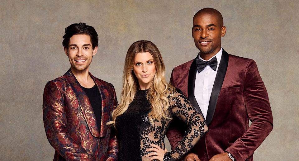 Tom Read Wilson, Anna Williamson and Paul C Brunson from Celebs Go Dating The Mansion (C4)