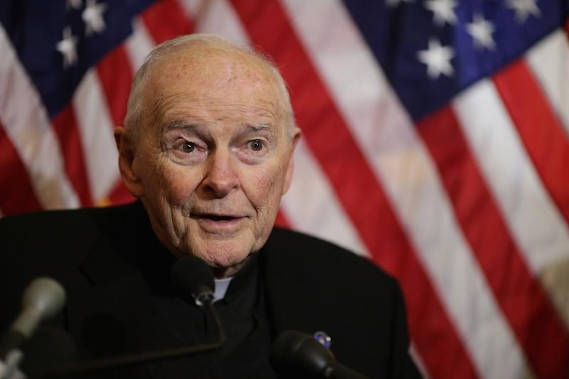 Questions remain over Theodore McCarrick, including how he rose so high within the Church despite suspicions about his behaviour (AFP Photo/CHIP SOMODEVILLA)