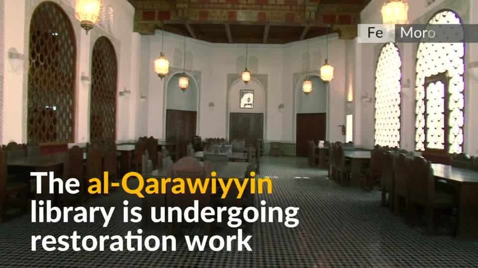 The al Qarawiyyin library in Morocco, widely believed to be the oldest in the world, is undergoing restoration work before being opened to the public.