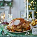 """<p>This turkey is infused with tangy citrus and sweet maple syrup. If you prefer to stuff your bird under the skin, use either of the stuffing recipes below, but remember to weigh it after stuffing to calculate your cooking time.</p><p><strong>Recipe: <a href=""""https://www.goodhousekeeping.com/uk/christmas/christmas-recipes/a34714332/maple-clementine-turkey-sherry-gravy/"""" rel=""""nofollow noopener"""" target=""""_blank"""" data-ylk=""""slk:Maple and Clementine Turkey with Sherry Gravy"""" class=""""link rapid-noclick-resp"""">Maple and Clementine Turkey with Sherry Gravy</a></strong></p>"""