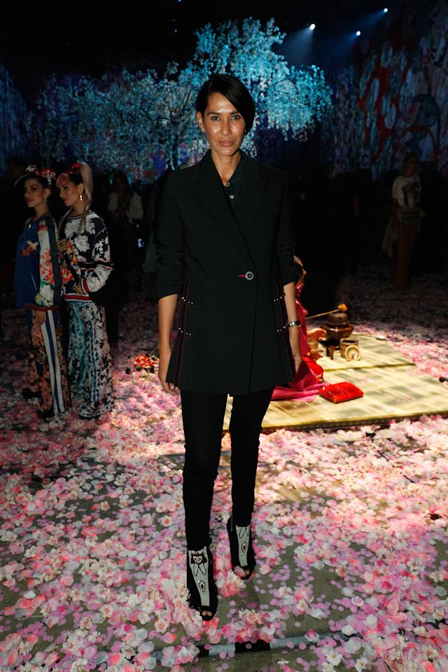 <p>After attending several shows during MBFWA, Lindy Klim didn't miss the final show.<br /> Source: Getty </p>