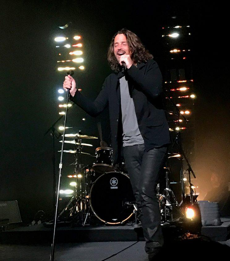 Chris Cornell as he performed with Soundgarden in Detroit at the Fox Theatre on May 17th