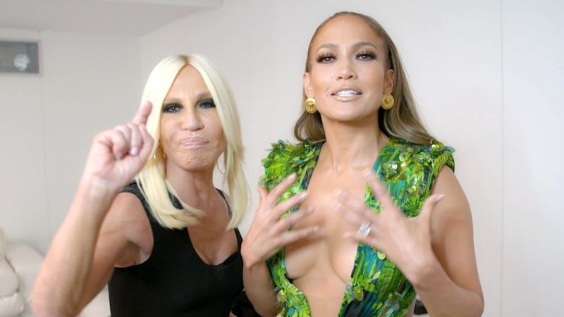 """""""It Was Just One of Those Perfect Moments"""": Watch Jennifer Lopez Tell the Story of Her Green Versace Dress"""