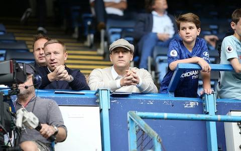 John Terry and his brother Paul Terry watch on from the stands - Credit: Plumb Images/Leicester City FC via Getty Images)