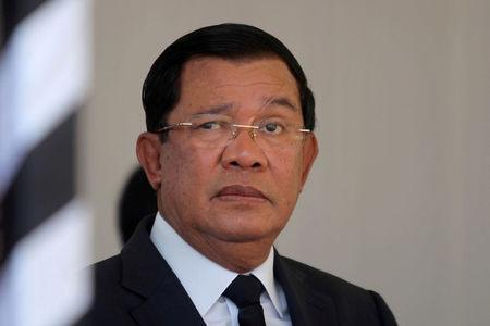 FILE PHOTO: Cambodian PM Hun Sen attends funeral of Cambodia's late Deputy Prime Minister Sok An in Phnom Penh