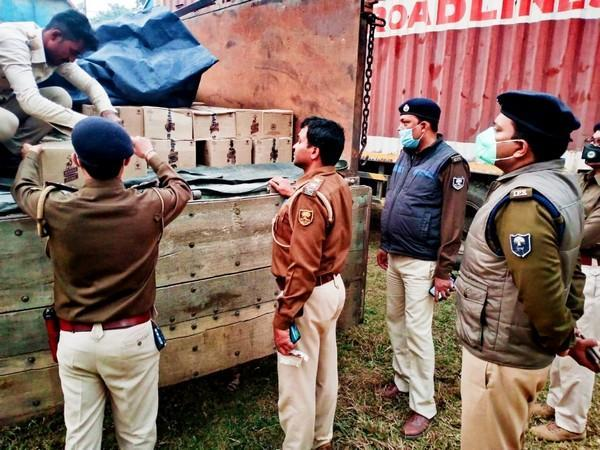 Over 11,000 litres of illegal liquor were seized during a drive by police in Kishanganj district on Thursday. (Photo/ANI)