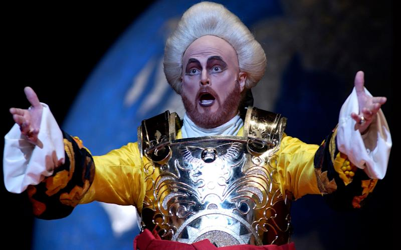 Bruce Ford (as Mitridate) in the Royal Opera's production of Mitridate Re Di Ponto  - Credit: Robbie Jack/Corbis