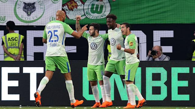 Wolfsburg took a significant stride towards retaining Bundesliga status after beating Holstein Kiel 3-1 in the first leg of their play-off.