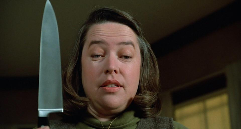 """Kathy Bates played obsessive superfan Annie Wilkes in 1990's Stephen King adaptation """"Misery."""""""