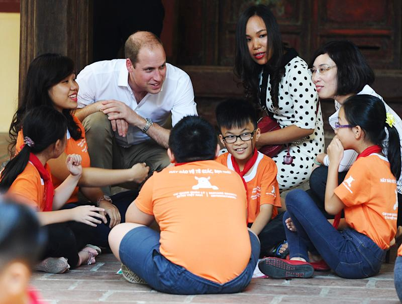 Prince William Visits Vietnam to Join Fight Against Poaching Endangered Animals