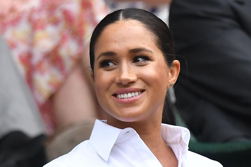 Meghan, Duchess of Sussex, in the royal box at Wimbledon, July 13, 2019.