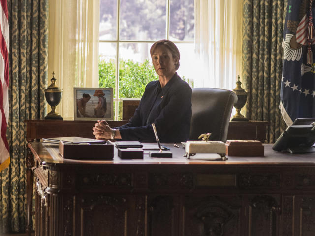 "Elizabeth Marvel as President Elizabeth Keane in ""Homeland."" (Photo: Jacob Coppage/Showtime)"
