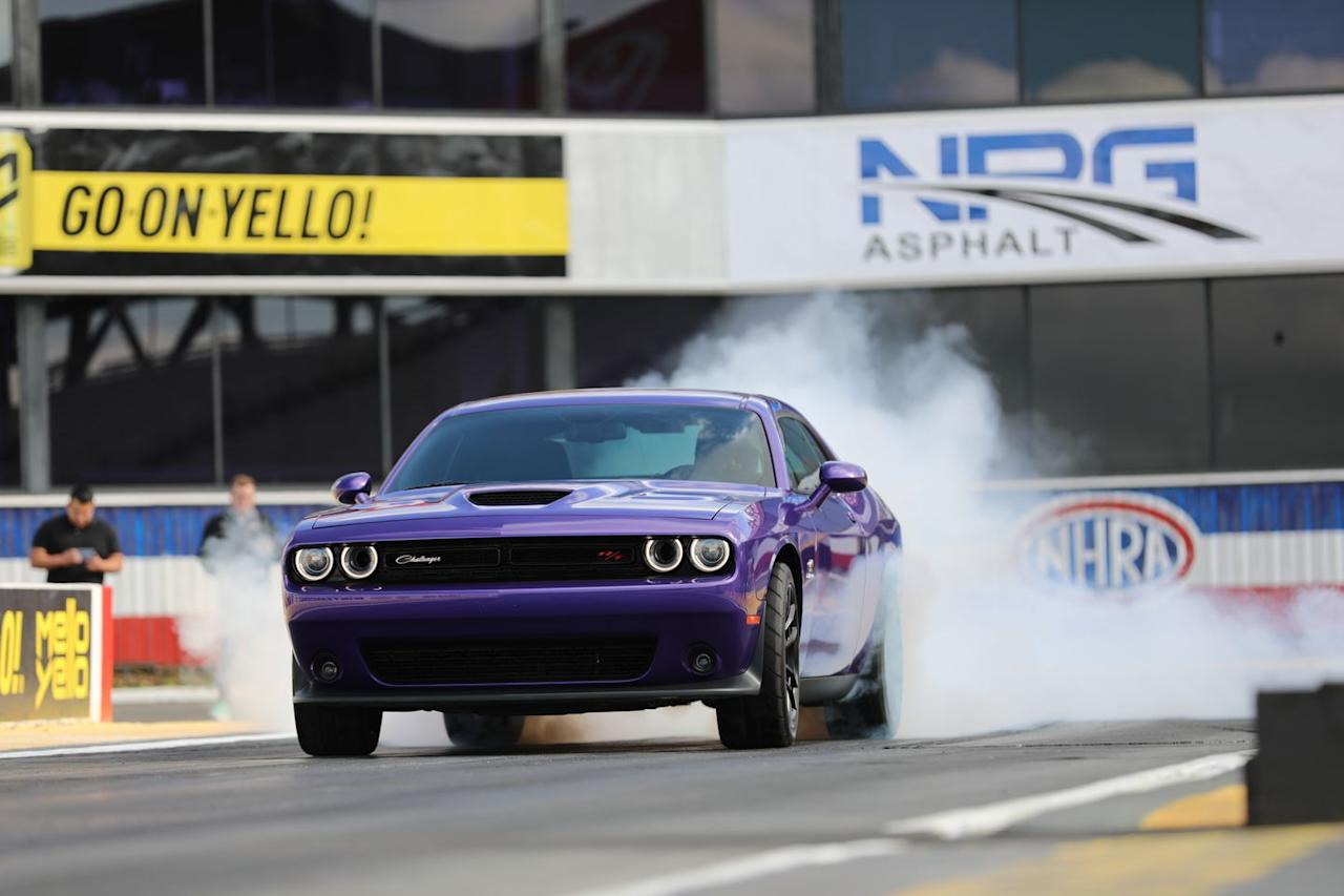 """<p>If you've made it this far you probably know, but just in case, <a rel=""""nofollow"""" href=""""https://www.caranddriver.com/news/a22487546/miss-out-on-a-demon-the-2019-dodge-challenger-rt-scat-pack-1320-is-your-consolation-prize/"""">the 1320 Drag package</a> is named for the length of a quarter-mile in feet. Like the limited-edition Demon, this is a Challenger set up for the drag strip. But the Demon has been discontinued for 2019, so the 1320 is now the factory-prepped dragster in the Challenger lineup, which is why Dodge let us rip on the 1320 at the drag strip at the Auto Club Speedway in Pomona, California.</p>"""
