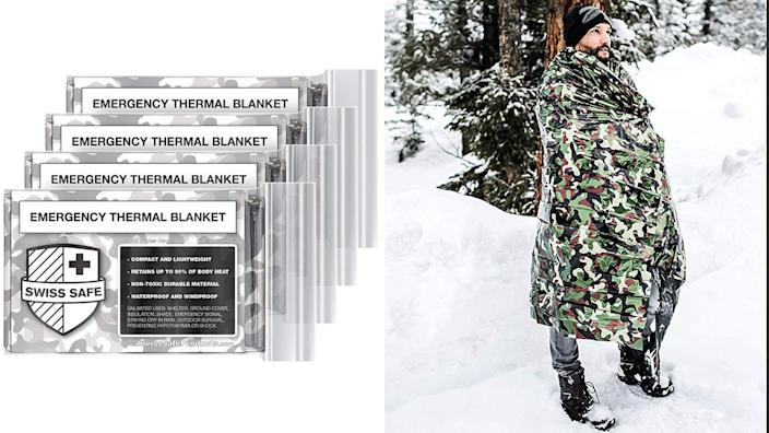 These thermal blankets could be a lifesaver, literally.