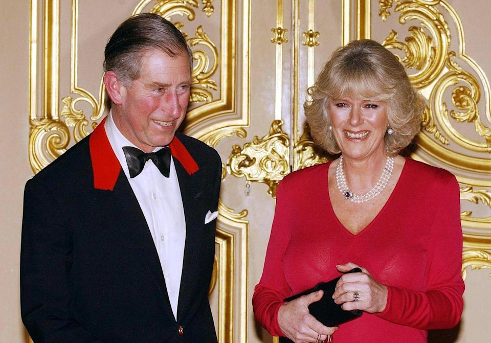 <p>Prince Charles and Camilla Parker Bowles, photographed at a party at Windsor Castle shortly after announcing their engagement. </p>