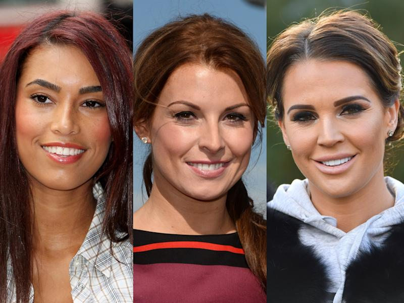 Chantelle Heskey (L) and Danielle Lloyd (R) have defended Coleen Rooney in her spat against fellow WAG Rebekah Vardy (Anthony Devlin/Claire R Greenway/Karwai Tang/Getty Images)