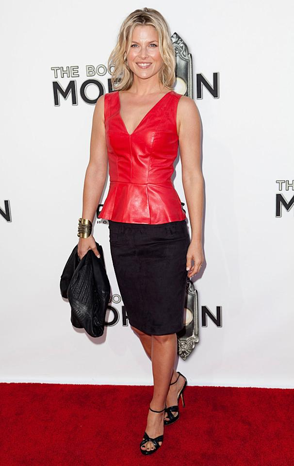 Ali Larter looked red hot in her leather top and black pencil skirt. (9/12/2012)