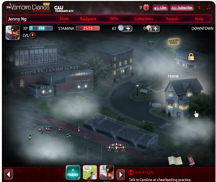 The Vampire Diaries game map