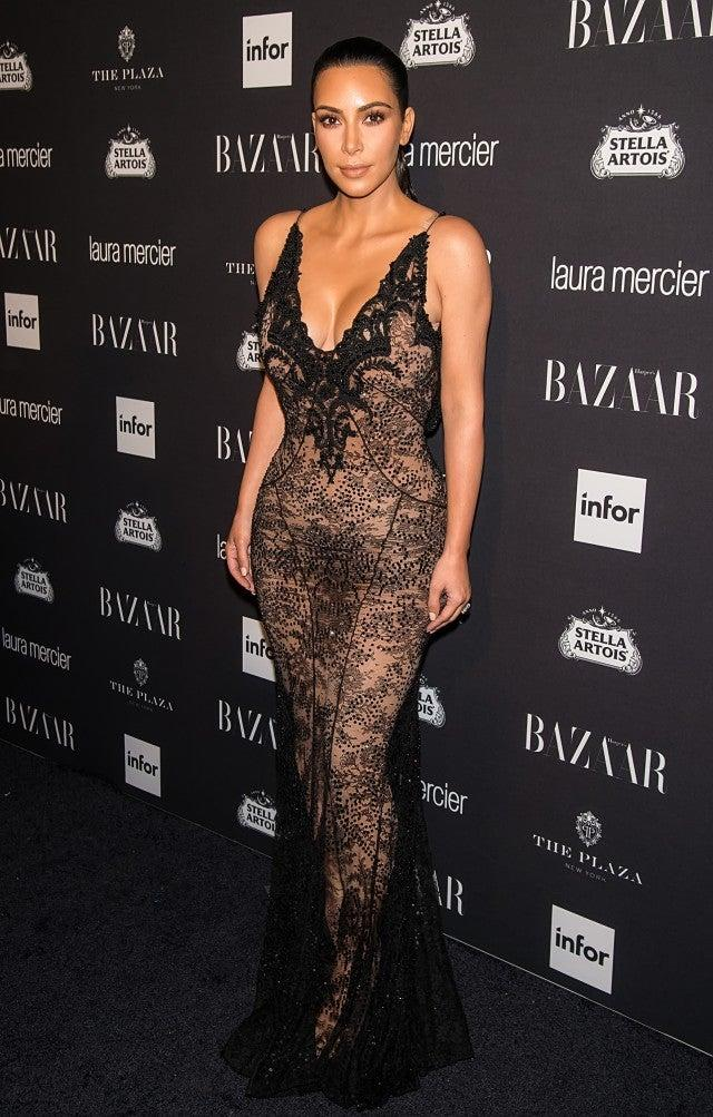 Kim Kardashian at 2016 Harper's Bazaar Icons Party