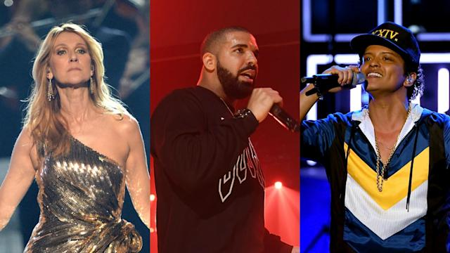Drake, Ed Sheeran, Celine Dion Among Billboard Music Awards Performers