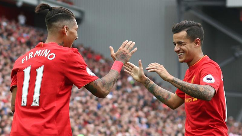 Coutinho and Firmino to return via private jet as Liverpool prepare for Merseyside derby
