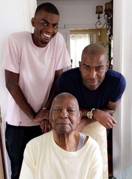 PHOTO: Karamo, his grandfather and Karamo's son pose together in a photo. 'I'm just happy that we've had these generational experiences.' (Karamo Brown)