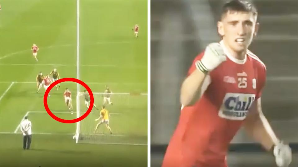 Collingwood AFL player Mark Keane kicked a match-winning goal for Cork in their Gaelic clash with Kerry.