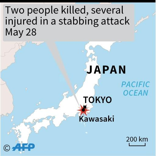 The mass stabbing took place in the town of Kawasaki, south of the Japanese capital (AFP Photo/)