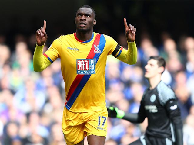 Benteke's ninth Premier League goal of the season gave Palace an unlikely lead: Getty