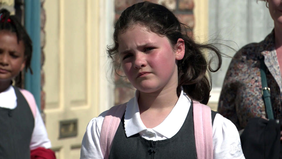 FROM ITV  STRICT EMBARGO - No Use Before Tuesday 31st August 2021  Coronation Street - Ep 10422  Monday 6th September 2021 - 1st Ep  Chesney BrownÕs [SAM ASTON] shocked to realise Hope StapeÕs [ISOBELLA FLANAGAN] going back to school and makes it clear he doesnÕt want her anywhere near Joseph. Also pictured Tyrone Dobbs [ALAN HALSALL] and Fiz Stape [JENNIE McALPINE].   Picture contact David.crook@itv.com   This photograph is (C) ITV Plc and can only be reproduced for editorial purposes directly in connection with the programme or event mentioned above, or ITV plc. Once made available by ITV plc Picture Desk, this photograph can be reproduced once only up until the transmission [TX] date and no reproduction fee will be charged. Any subsequent usage may incur a fee. This photograph must not be manipulated [excluding basic cropping] in a manner which alters the visual appearance of the person photographed deemed detrimental or inappropriate by ITV plc Picture Desk. This photograph must not be syndicated to any other company, publication or website, or permanently archived, without the express written permission of ITV Picture Desk. Full Terms and conditions are available on  www.itv.com/presscentre/itvpictures/terms