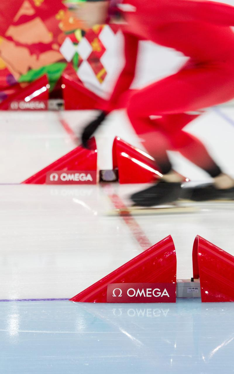Today's photoelectric cells on the speed skating track - OMEGA WATCHES