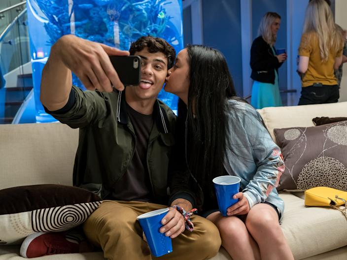 To All The Boys i've loved before Noah Centineo Lana Condor selfie