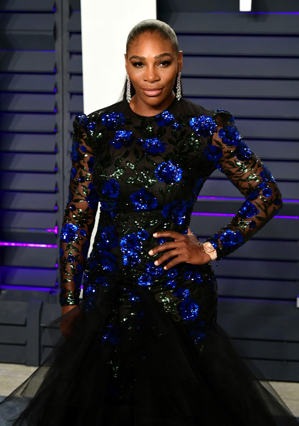 Serena Williams attending the Vanity Fair Oscar Party held at the Wallis Annenberg Center for the Performing Arts in Beverly Hills, Los Angeles, California, USA.