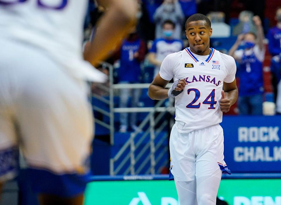Kansas guard Bryce Thompson, who just completed his freshman season, has decided to enter the transfer portal, Thompson announced Tuesday in a social media post. A former five-star recruit, Thompson averaged 4.6 points on 35.3% shooting in 2020-21.