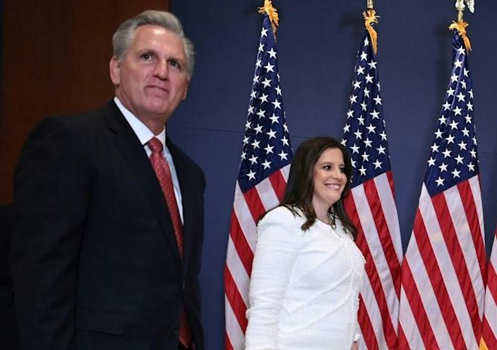 Congresswoman Elise Stefanik, a staunch defender of former US president Donald Trump, is now the number three Republican in the House of Representatives