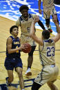 Carver College forward Antwon Ferrell drives to the basket during the first half of an NCAA college basketball game against Florida International Monday, Dec. 21, 2020, in Miami. (AP Photo/Gaston De Cardenas)
